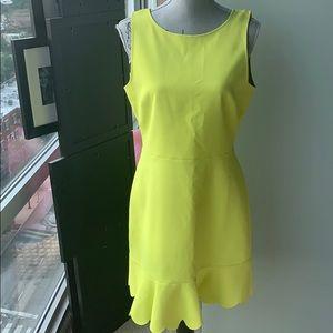 J.Crew scalloped hem dress